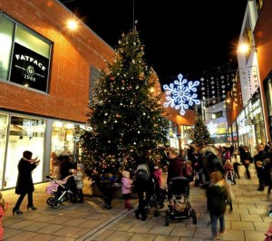 Hereford's 'The Old Market Shopping Centre' Christmas Tree