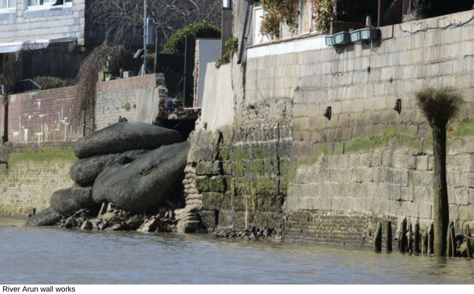 River Arun wall works